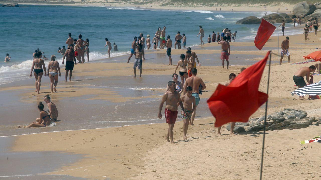Foto de archivo de la playa de O Vilar, en Ribeira.Fotografía de archivo de la playa de O Vilar