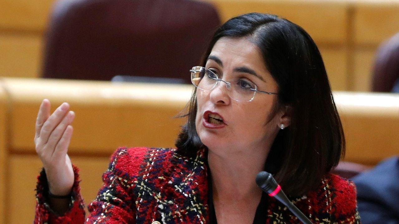 Carolina Darías, en una imagen de archivo, durante una intervención en el Senado