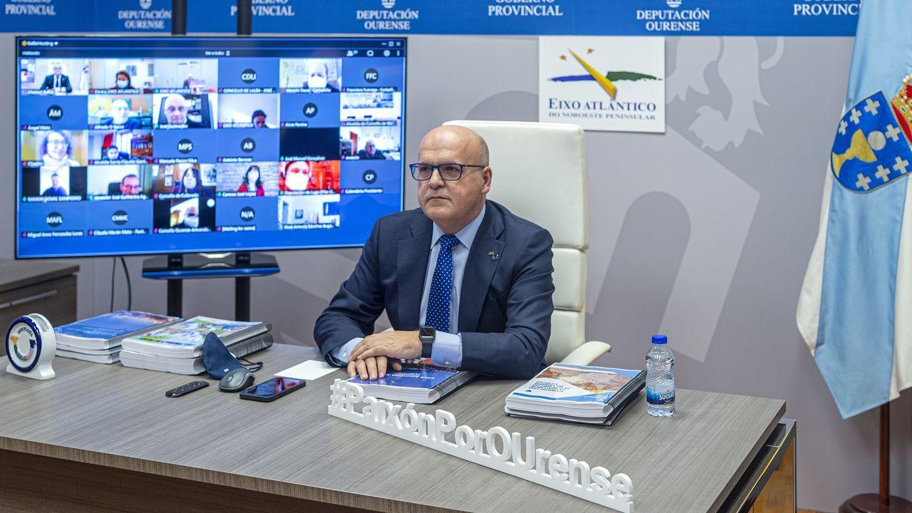 José Manuel Baltar asiste a la reunión telemática del Eixo Atlántico