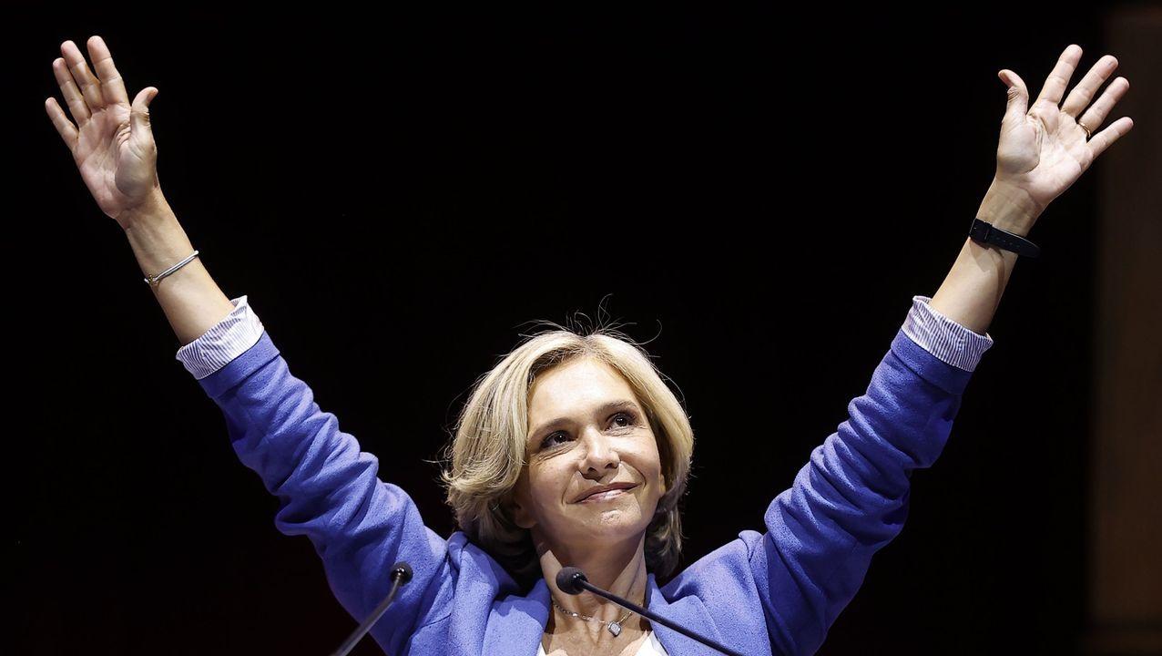 Valérie Pécresse, durante la celebración de su triunfo de presidenta de la región Isla de Francia, el pasado lunes.