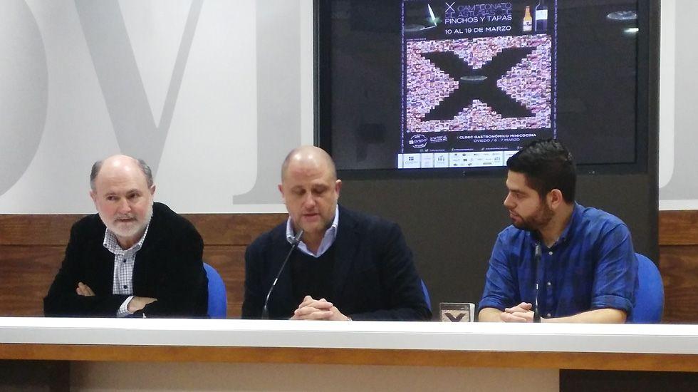 Radar de tráfico.Jesús Casas, Iván de la Plata y Rubén Rosón, en la presentación del certamen
