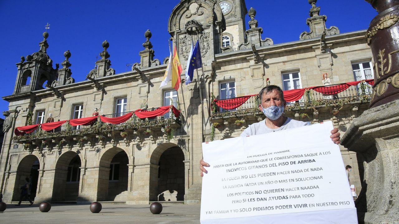 Juan Carlos Rivas empezó el jueves la huelga de hambre.