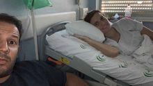 Teresa y su pareja en el hospital