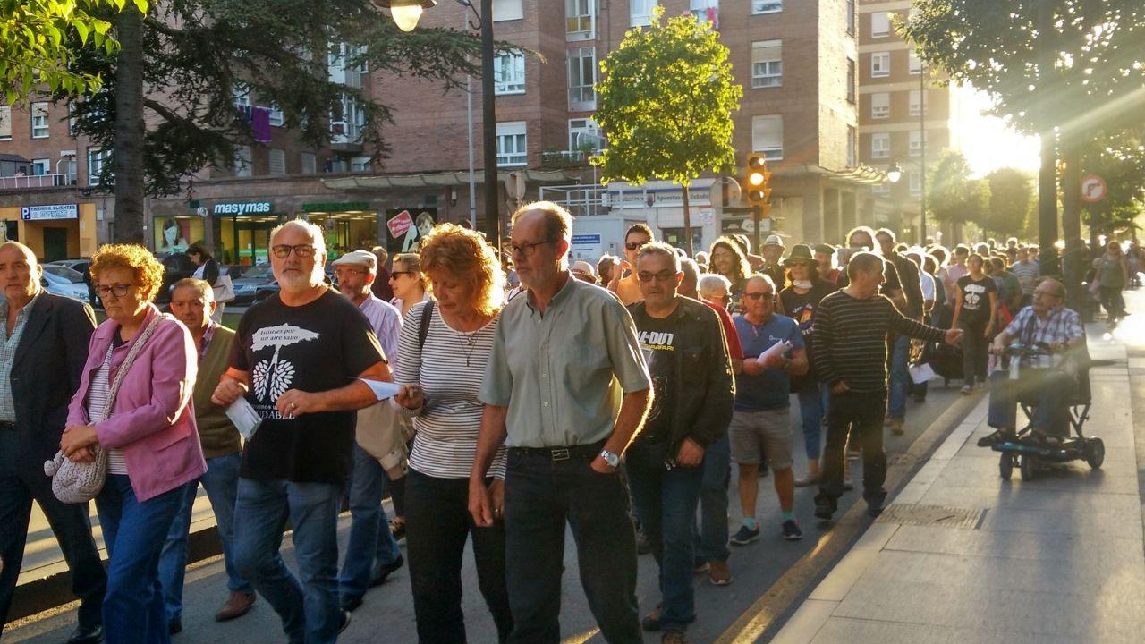Paso de la manifestación por La Calzada