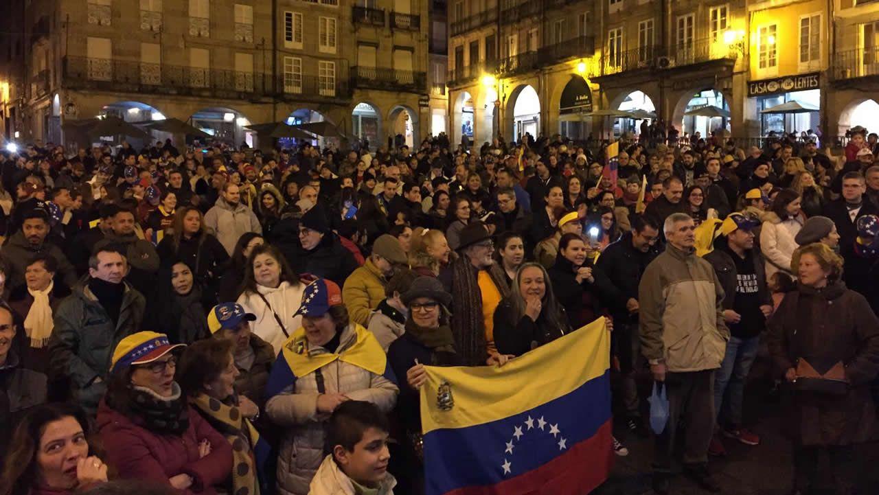 Concentración en Ourense capital.Venezolanos en Celanova