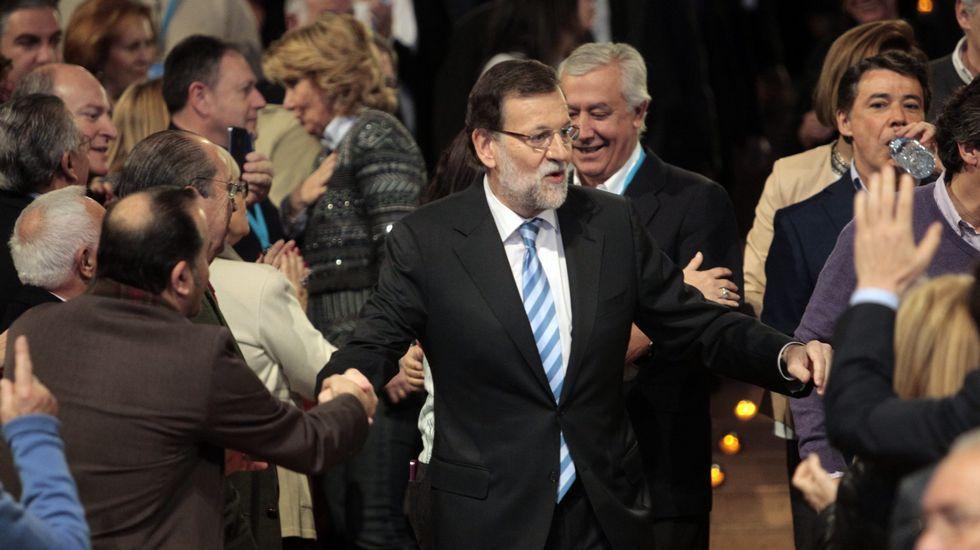 Mercedes Fernández, antes de iniciarse la Junta Directiva del PP.Mercedes Fernández, antes de iniciarse la Junta Directiva del PP