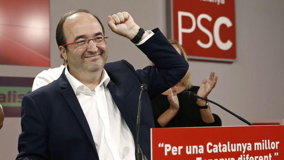 El candidato del PSC, Miquel Iceta. El PSC se queda con 16 escaños. Pierde cuatro