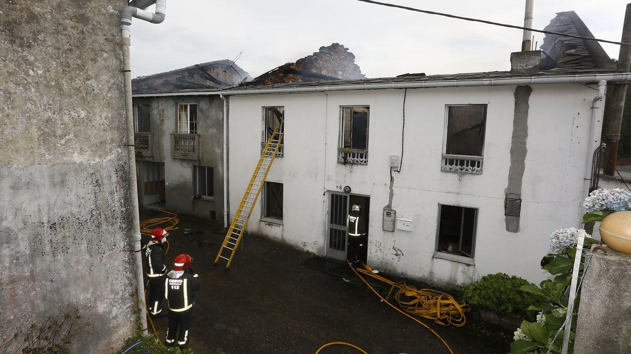 Incendio en San Martiño, Foz