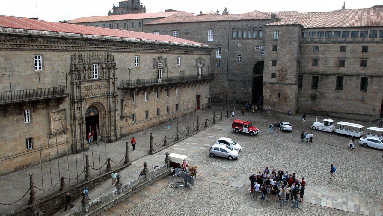 El Hostal de los Reyes Católicos es uno de los ochos hoteles de cinco estrellas en Galicia