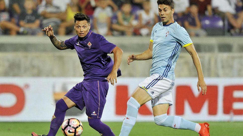 El Fiorentina-Celta, en fotos.Berizzo, en Lieja