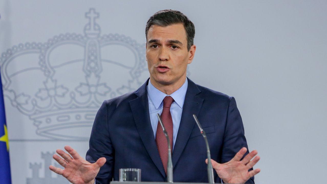 En streaming, comparecencia de Pedro Sánchez