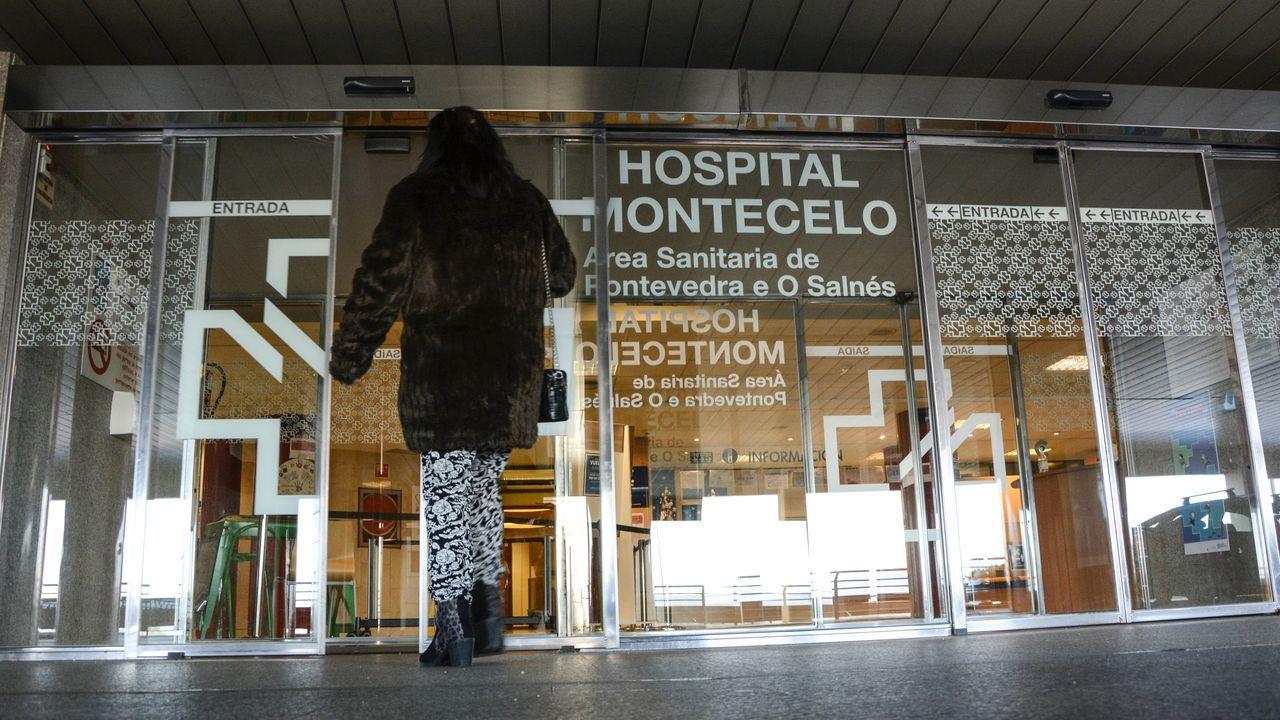 Entrada al hospital Montecelo, en Pontevedra