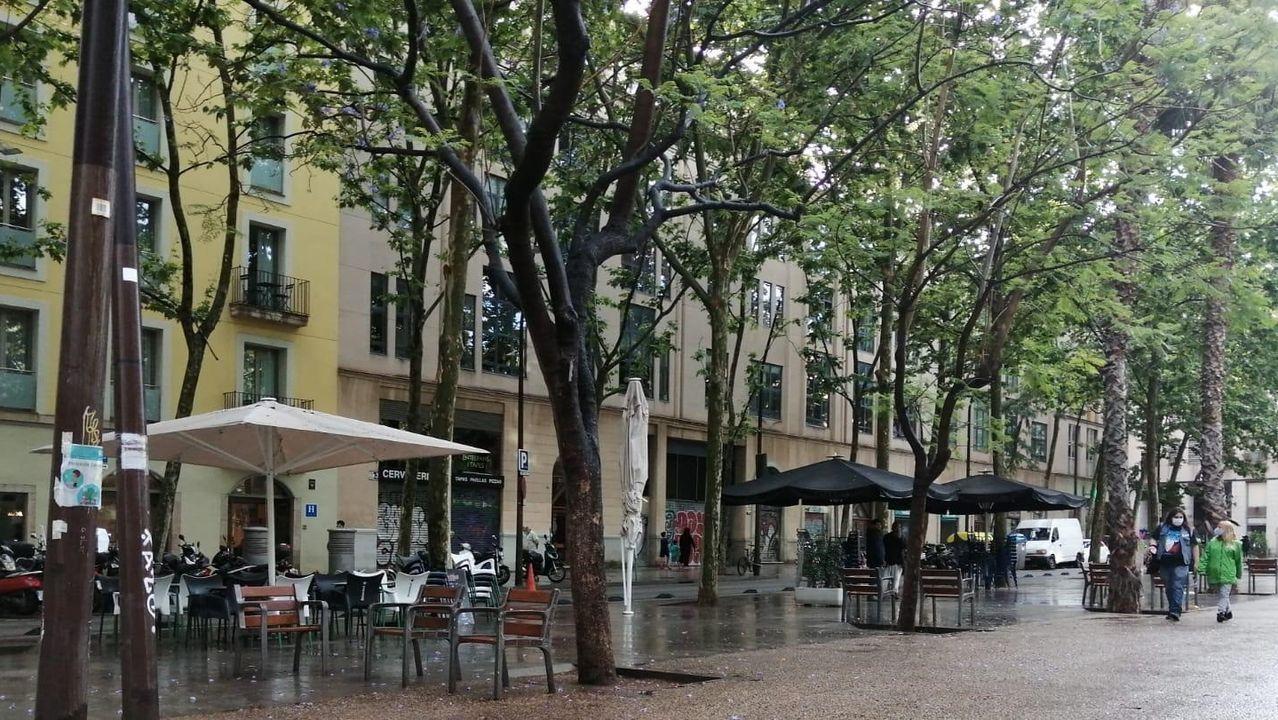 Terrazas de la Rambla del Raval en Barcelona