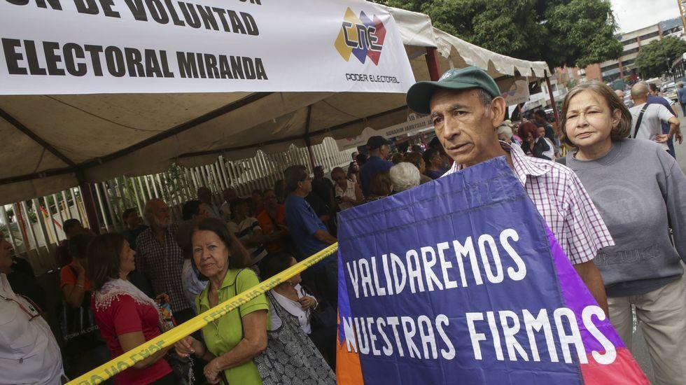 Leopoldo López (en el centro), en una foto de archivo