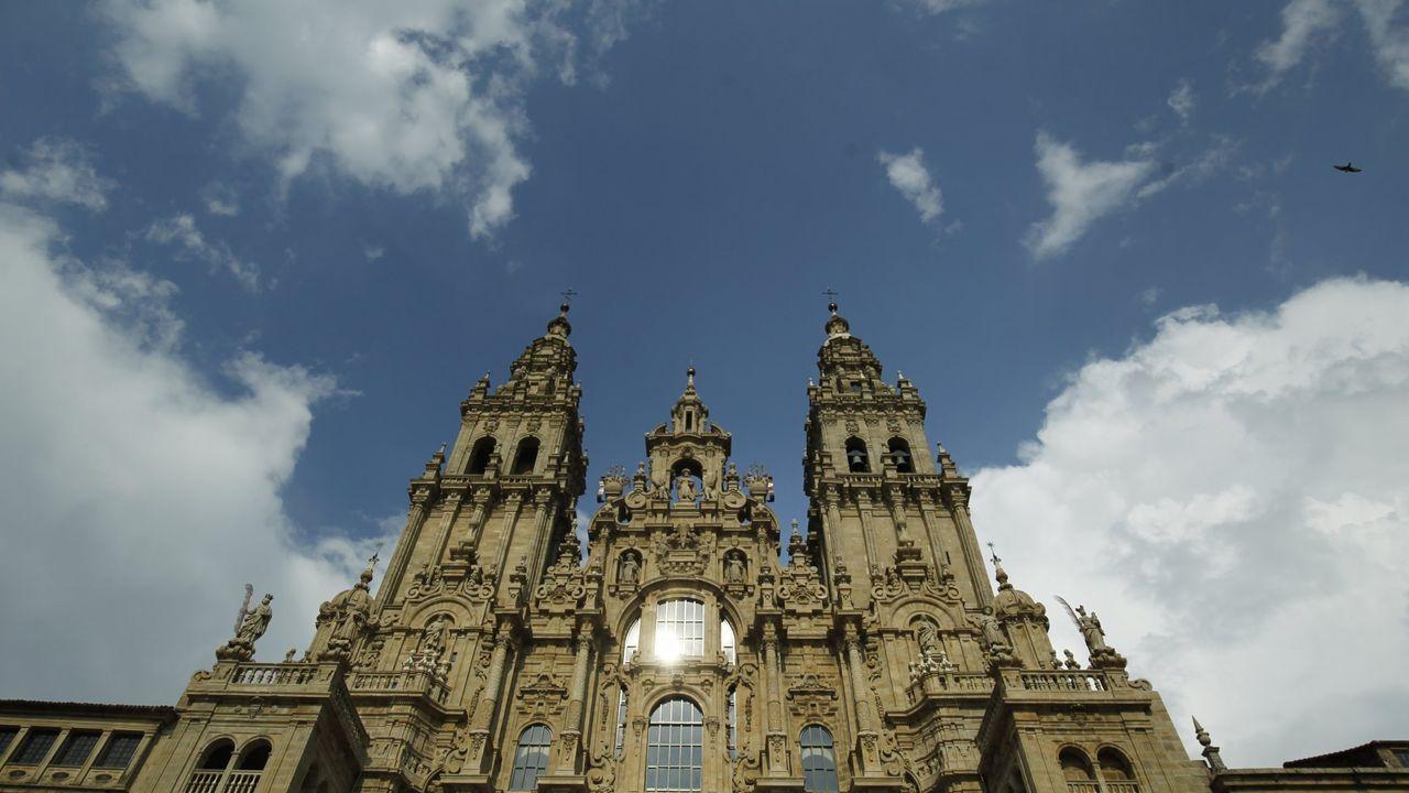 Fachada del Obradoiro de la catedral de Santiago