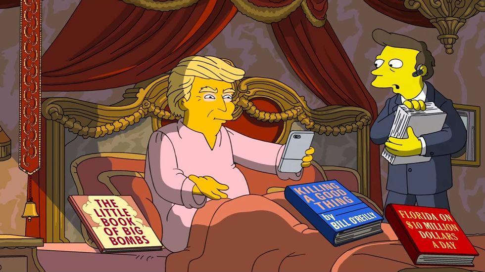 Los 100 días de Trump en el poder, según «Los Simpson».Donald Trump