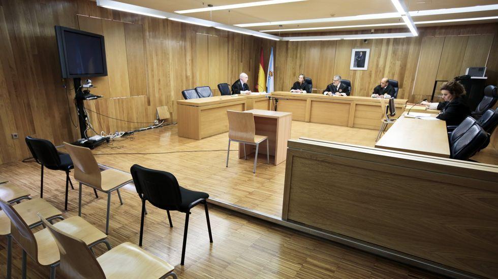Fotografia de archivo de un juicio en la Audiencia Provincial de Lugo
