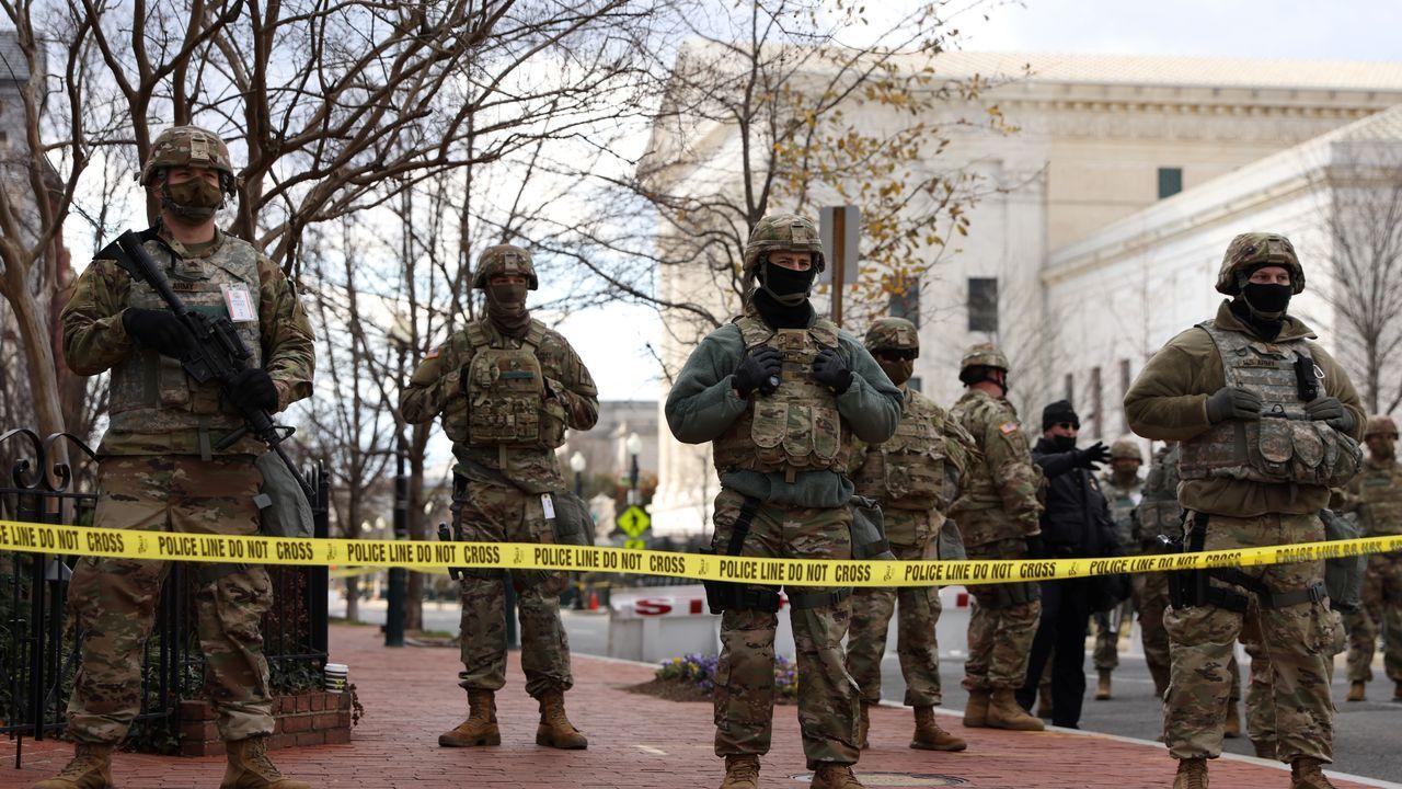 25.000 miembros de la Guardia Nacional y otros agentes de otros cuerpos de seguridad vigilan el acto de investidura