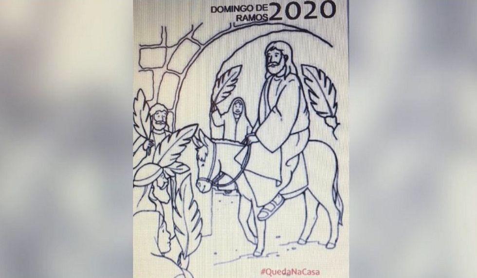 Dibujos De Palmas En Los Balcones Para Ramos Y Misas De Pascua