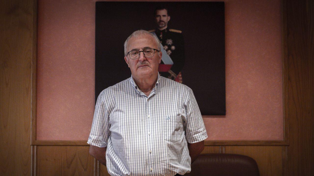 Javier Cuesta, concejal de Economía, durante el pleno telemático del Ayuntamiento de Oviedo
