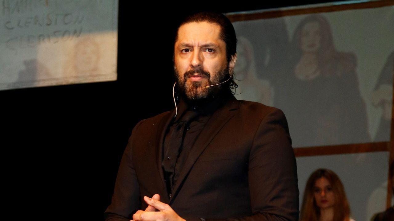 El rapero leridano Pablo Hasel, durante la rueda de prensa que ofreció el pasado lunes