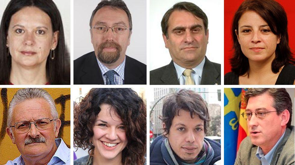 Los ocho diputados asturianos