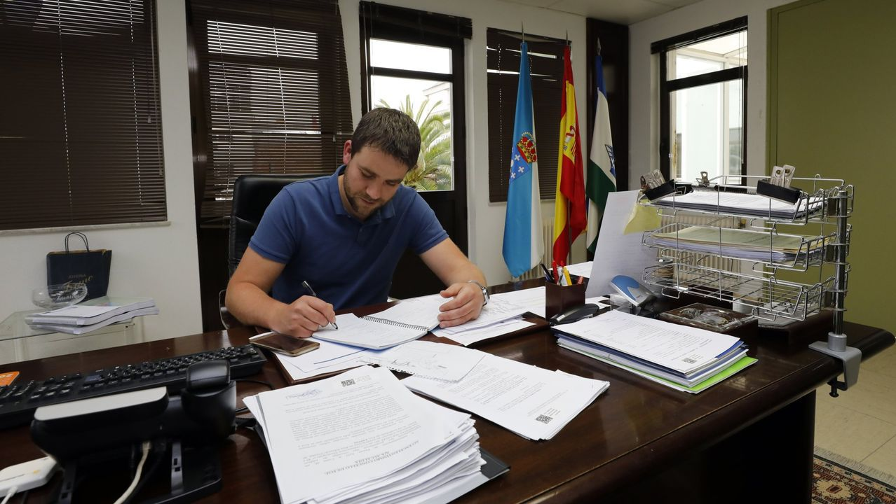 Borja Sánchez, durante su comparecencia en la Junta