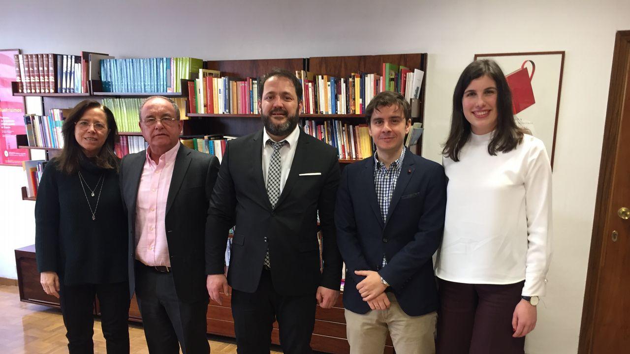 Íñigo Méndez de Vigo y Genaro Alonso, en el ministerio de Cultura