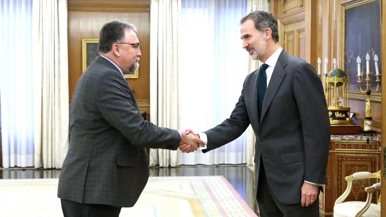 Isidro Martínez Oblanca en su encuentro con el Rey