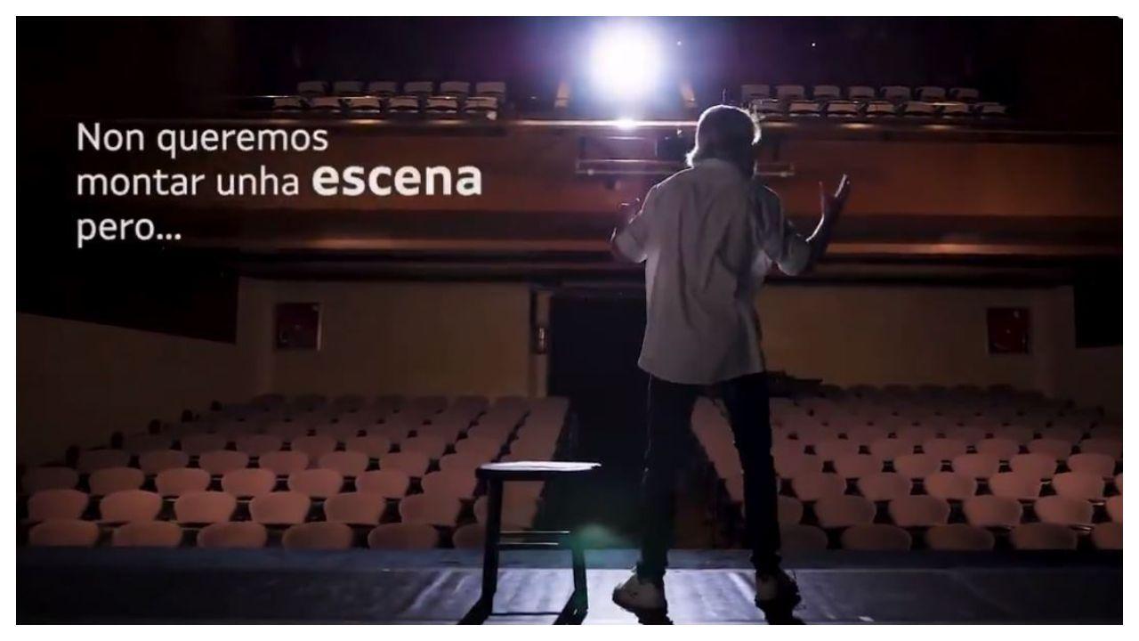 Fotograma do vídeo da campaña #aculturasegue en favor do consumo de produtos culturais