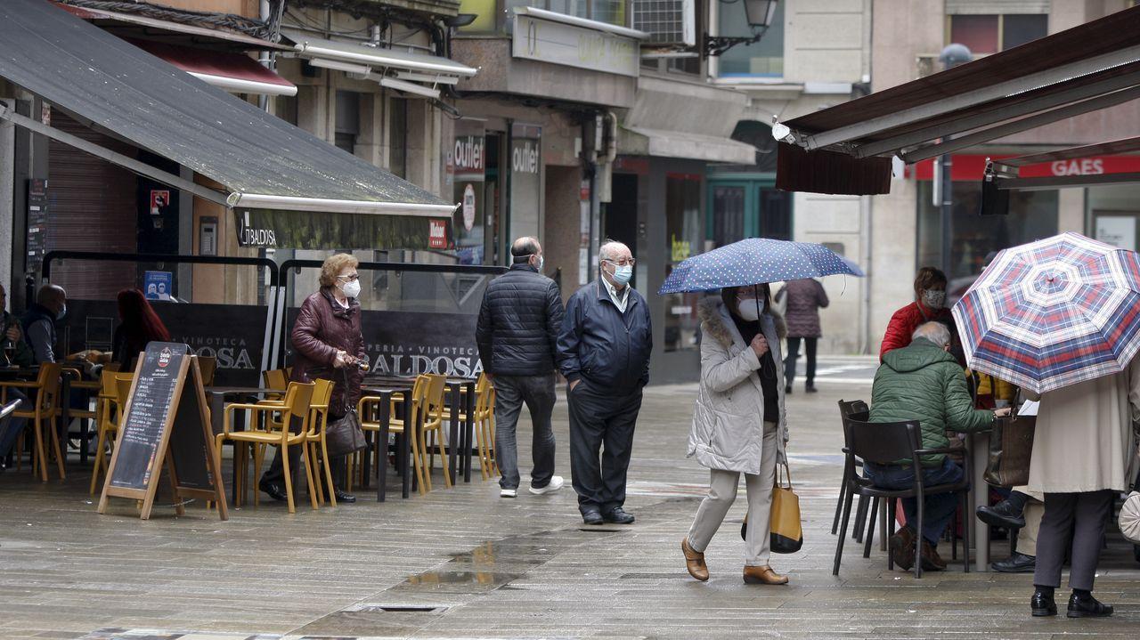Reivindicandoo 8M en Arousa.Ambiente de domingo en la ciudad de Pontevedra