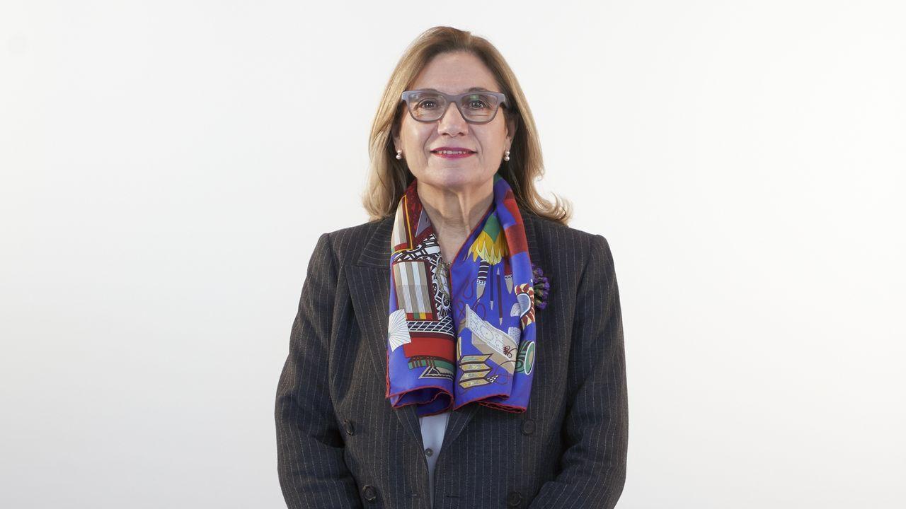 María Encarnación Amigo, número 8 del PP por Lugo. Licenciada en Medicina y Cirugía. Trabaja como reumatóloga desde 1991. Fue concejal en Lugo hasta el 2019. Fue portavoz del Patrimonio Cultural del GPP.