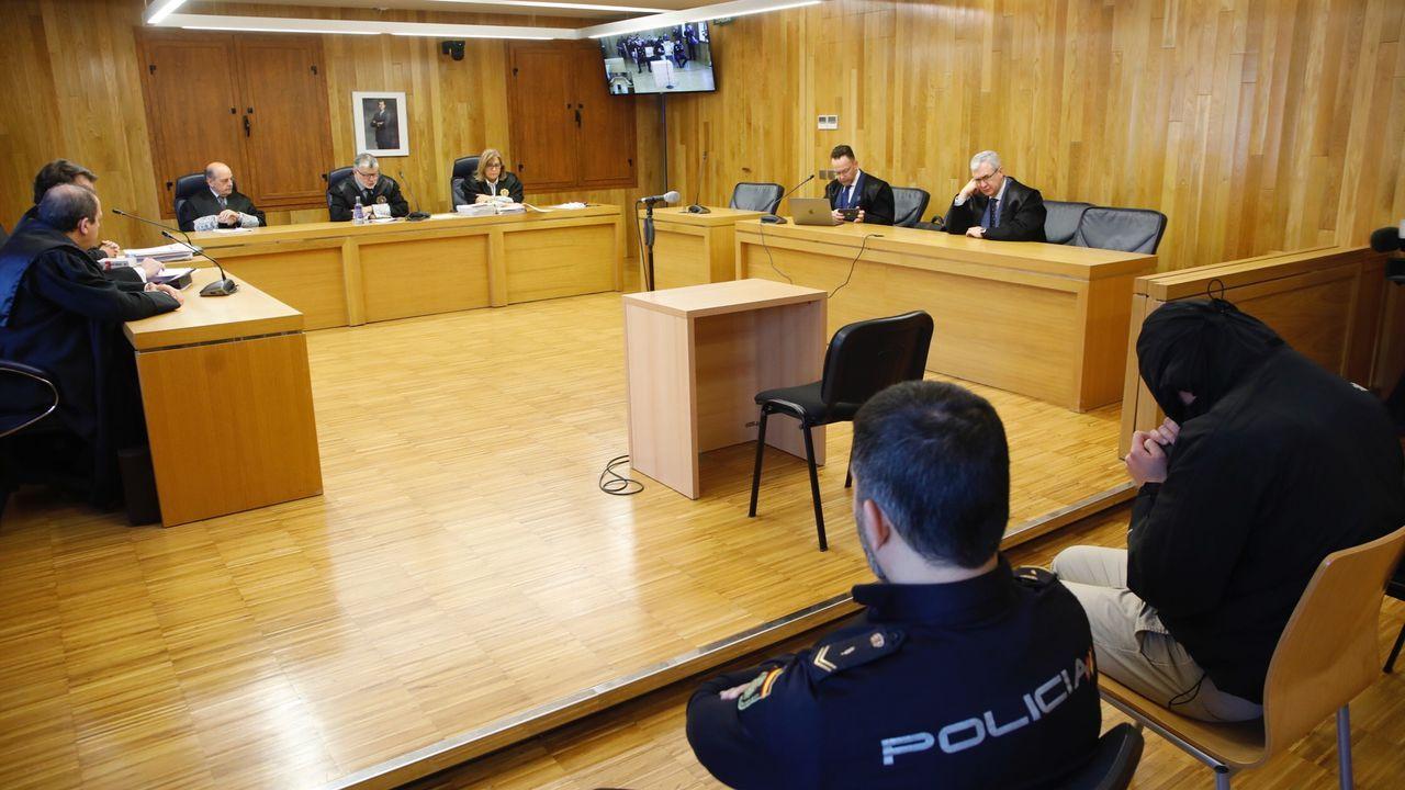 Comisaría de la Policía Nacional en Gijón.Juicio en la Audiencia Provincial de Lugo al violador de Aguas Férreas, una de las últimas vistas celebradas en Galicia