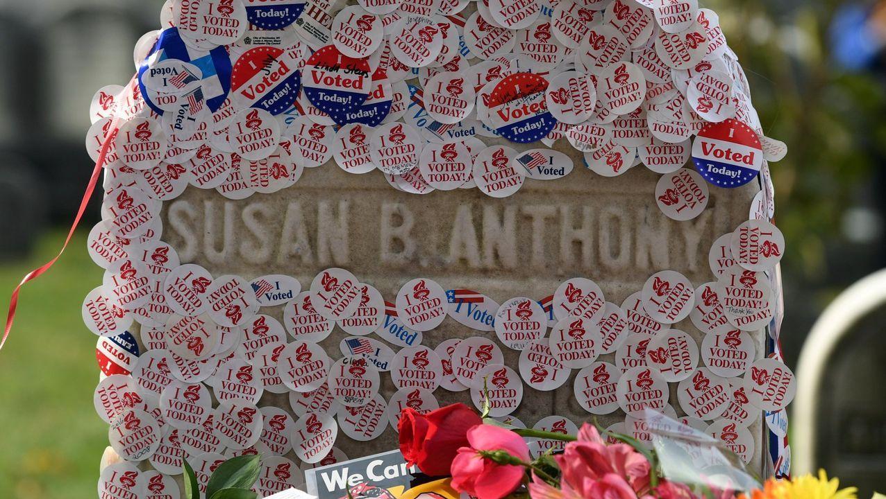 La tumba Susan B. Anthony, en una imagen de archivo