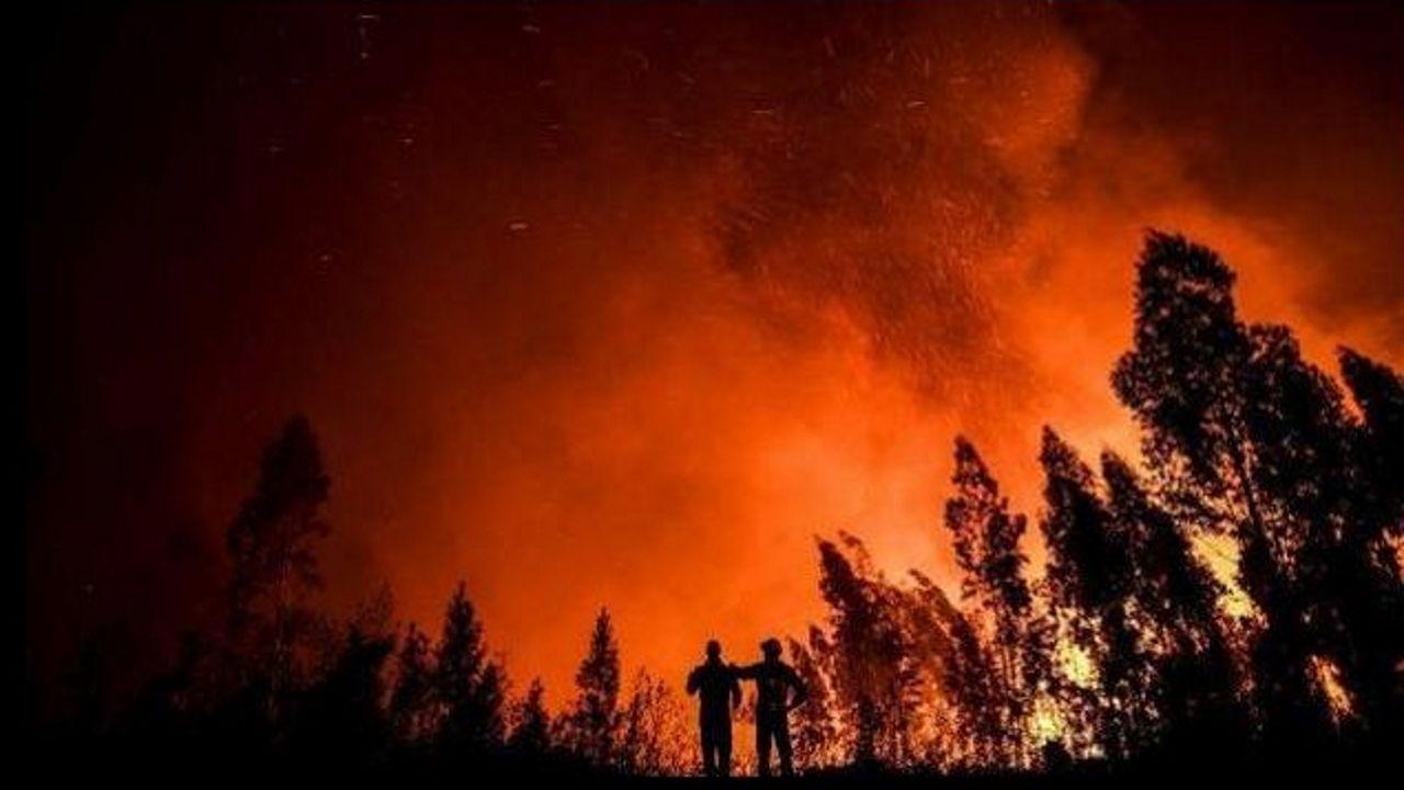 Foto de archivo de un incendio