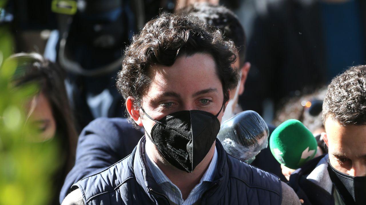 Segundo día de selectividad en Viveiro.El Pequeño Nicolás, a su llegada a la Audiencia Provincial de Madrid