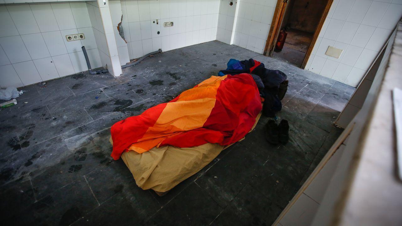 El Remanso, convertido en albergue para los sintecho.El Carmín de La Pola 2019