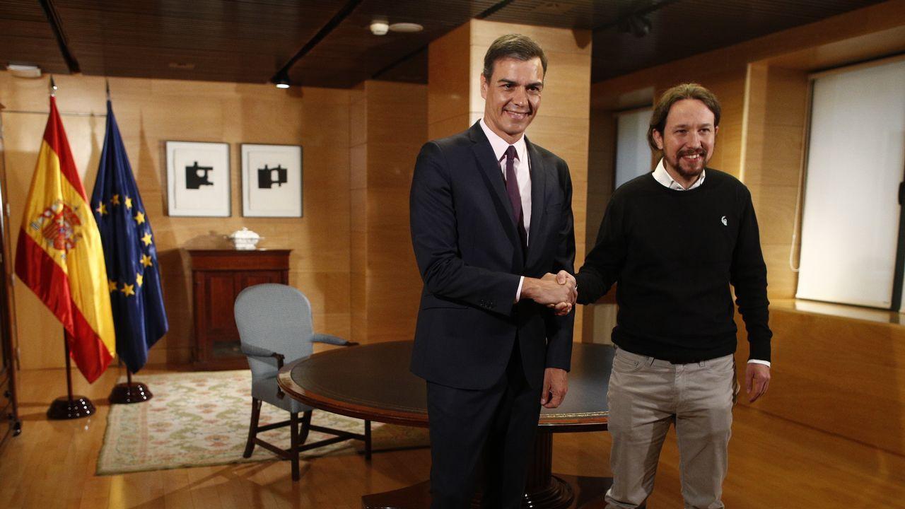 Pedro Sánchez y Pablo Iglesias exhibieron este martes sintonía