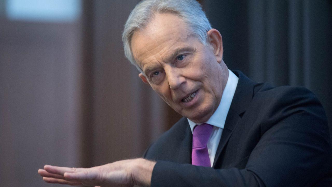 El ex primer ministro britanico Tony Blair