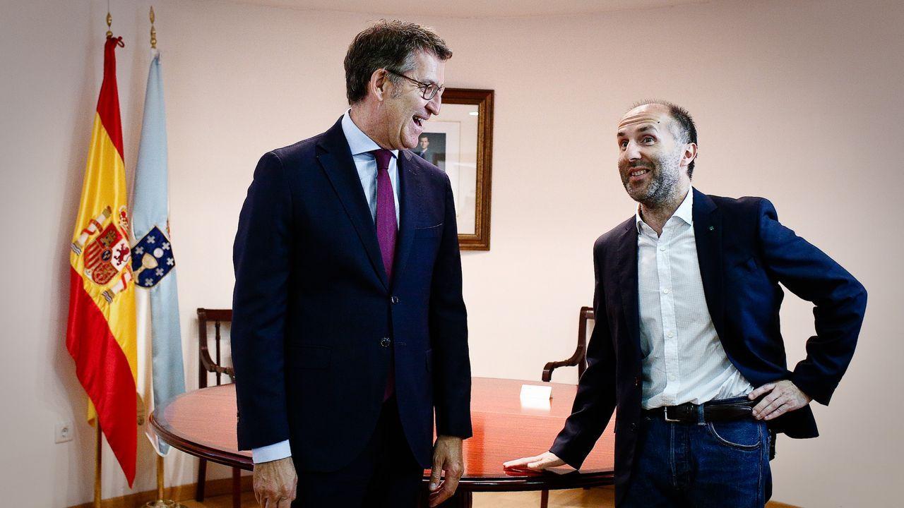 Feijoo y Jácome, en su primer encuentro oficial