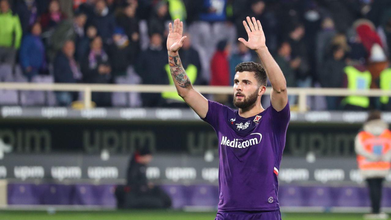 Patrick Cutrone, jugador de la Fiorentina