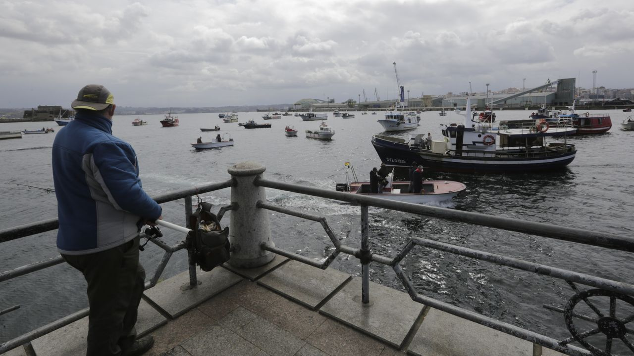 La movilización en el puerto de A Coruña