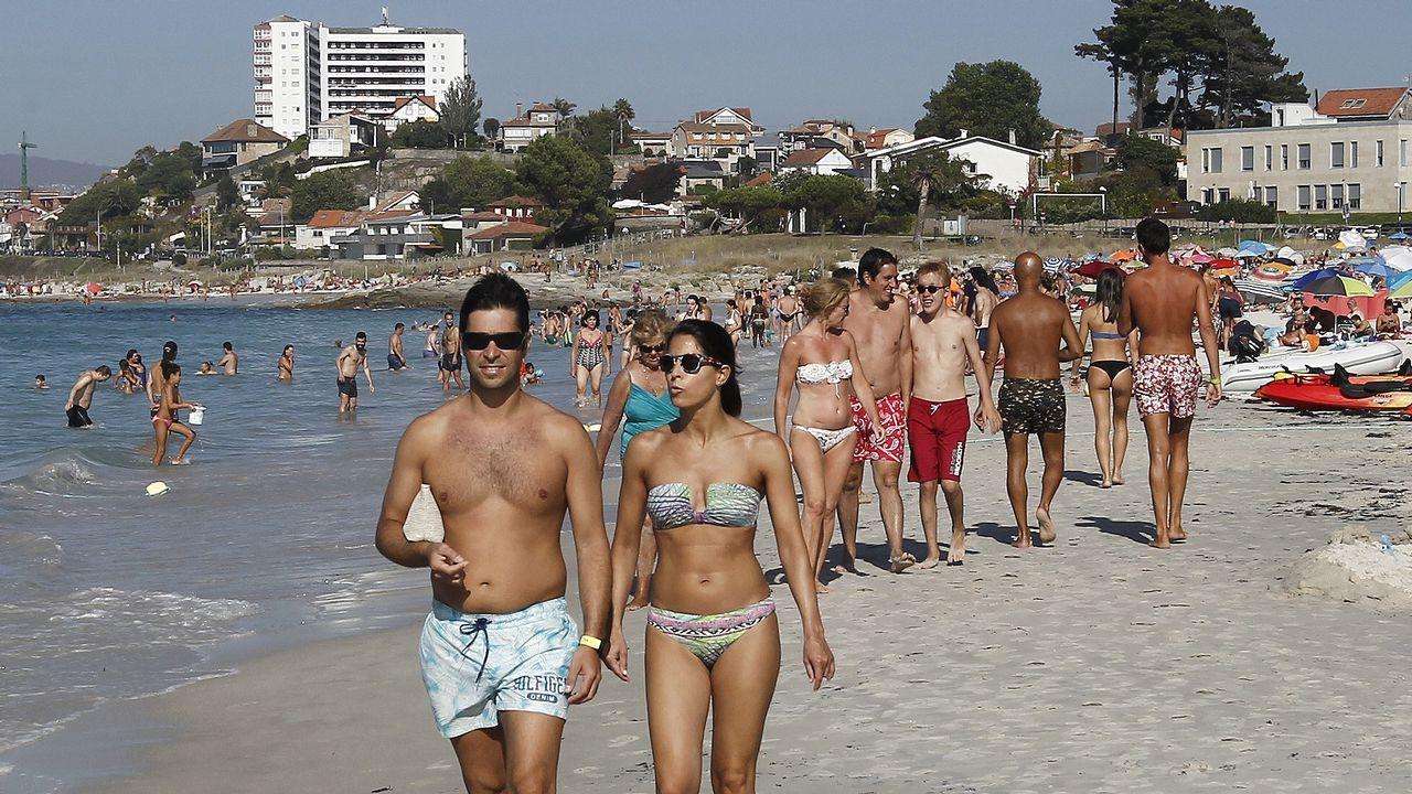 Playa de O Vao, en Vigo