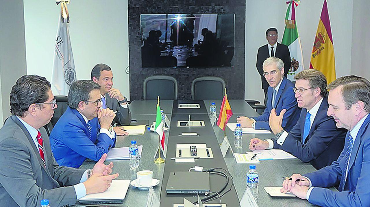 Feijoo, con el secretario de economía del Gobierno de México