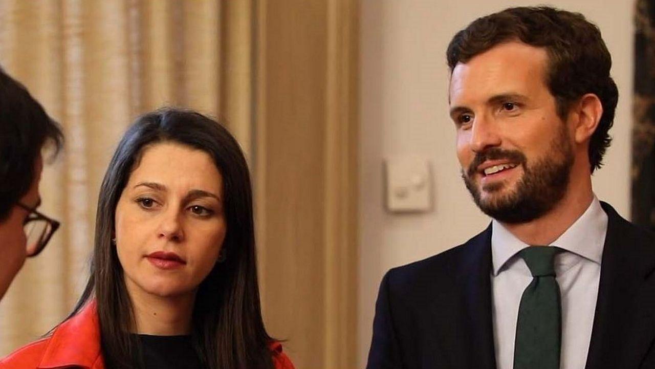 Edmundo Bal: «No hemos sabido transmitir a la gente la importancia del centro político».Inés Arrimadas y Pablo Casado, en una imagen de archivo