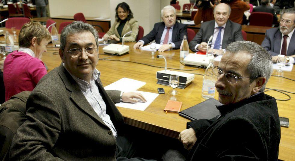 Los «número dos» de UGT y Comisiones, Toni Ferrer (izquierda) y Ramón Górriz.