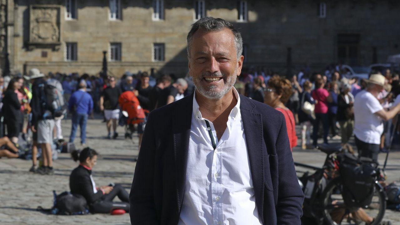 Estimación de voto en Santiago.El candidato del PP en Santiago de Compostela, Agustín Hernández