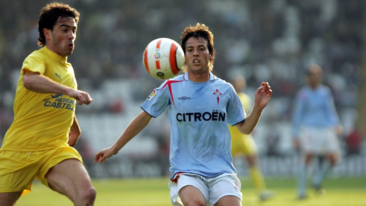 Titular indiscutible en Primera División en el Celta de Fernando Vázquez el año que pasó cedido en Vigo.