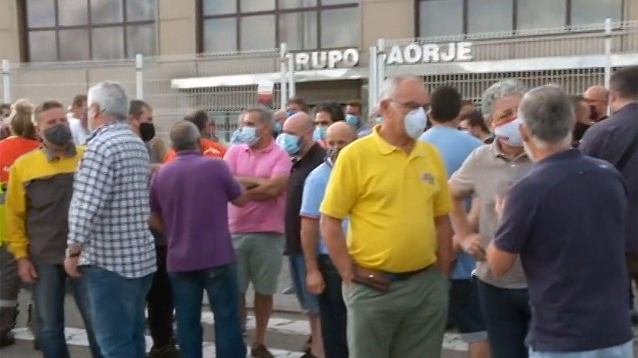 Protesta ante la sede de Daorje. ARCHIVO