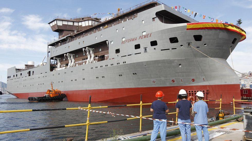 Así fue la botadura del «Carrasco».Acto de botadura en las instalaciones de Metalships, el astillero del Grupo Rodman.